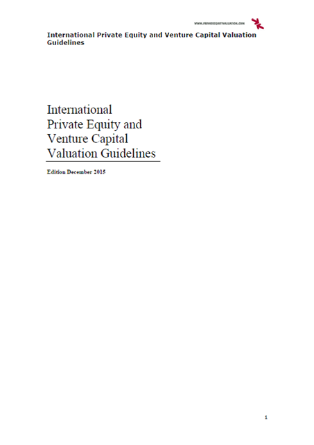 International Private Equity and Venture Capital Valuation Guidelines (2015)