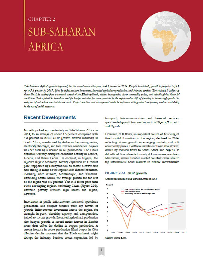 World Bank 2015 Global Economic Prospects: Sub-Saharan Africa
