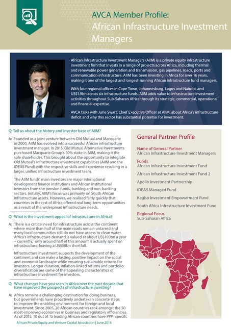 African Infrastructure Investment Managers