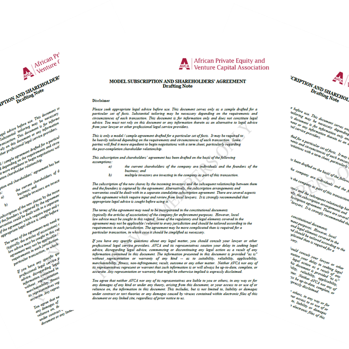 AVCA African Private Equity Legal Document Templates